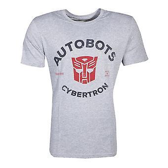 Hasbro Transformatoren Autobots Cybertron T-Shirt männlich X-Large Grau TS401671HSB-XL