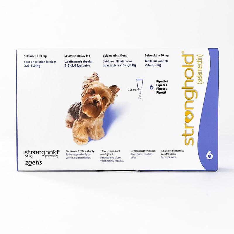 Stronghold for Dogs 2.6-5kg (5-10lbs) Violet, 6 Pack