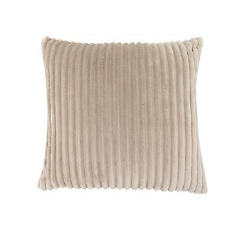 """18"""" x 18"""" Beige, Ultra Soft Ribbed Style - Pillow"""