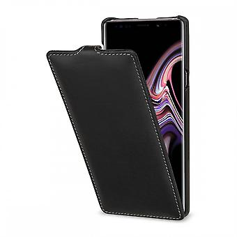Case For Samsung Galaxy Note 9 Ultraslim Black Nappa In True Leather