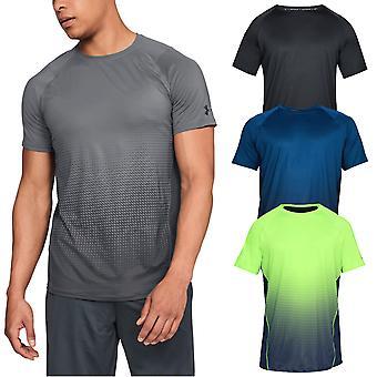 Under Armour Mens Raid 2.0 Dash Fade SS HeatGear Fitted Stretch Tee T-Shirt