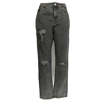 Qualität Waren Frauen's Jeans Distresses Skinny Leg Black