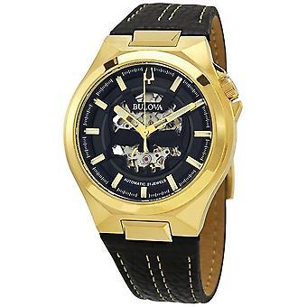 Bulova 97A148 Maquina Automatic Gold Tone Wristwatch