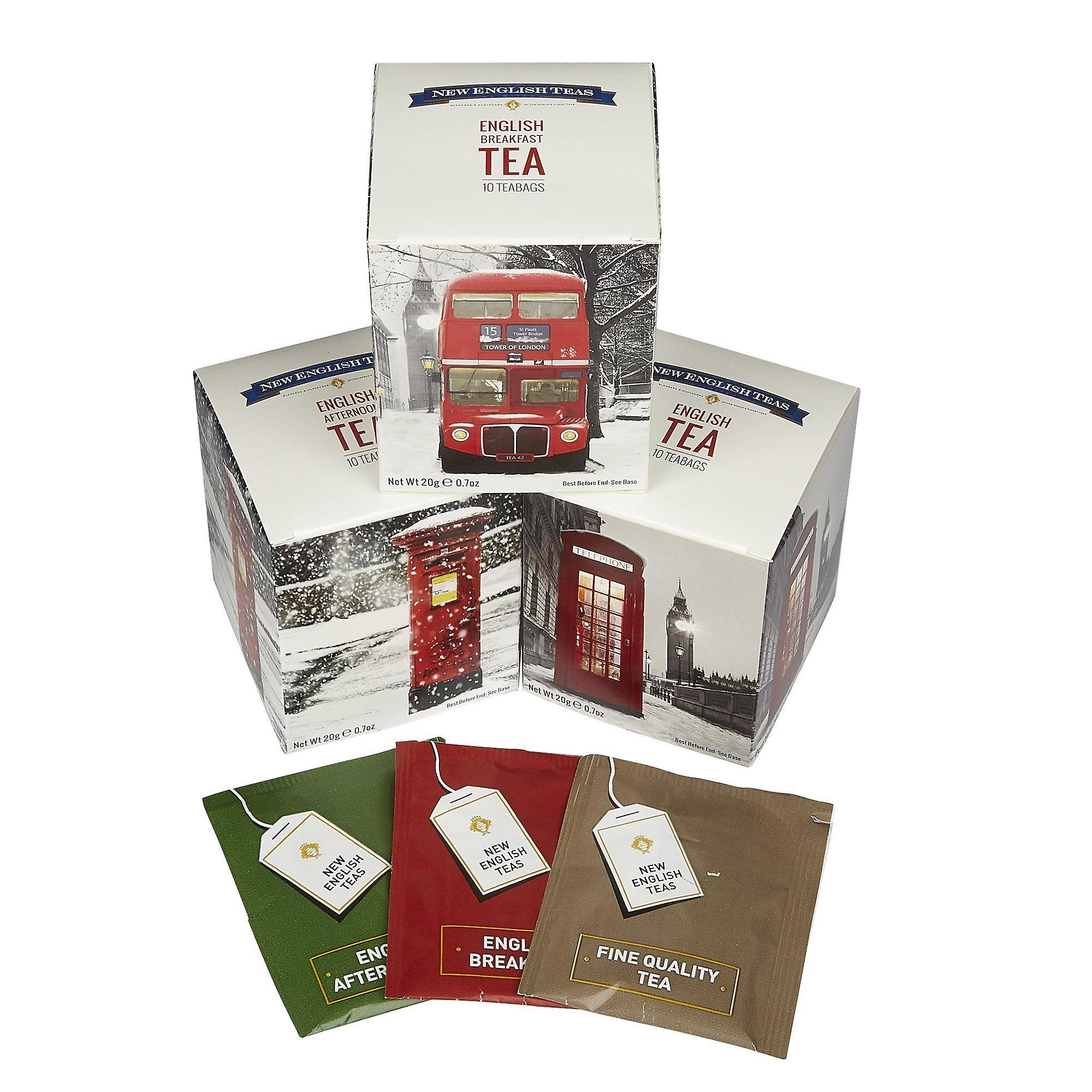 British icons in the snow triple tea gift pack