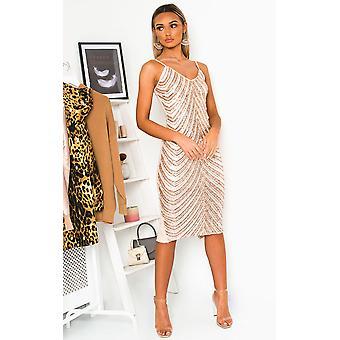 IKRUSH Womens Beth Sequin Embellished Midi Dress