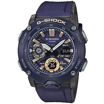Montre Casio GA-2000-2AER - Multifonction R�sine Bleu Carbon Core Guard Structur Homme