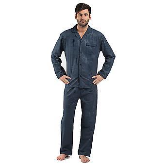 Harvey James Pánské 100% Bavlna Flanel Spot Pyžamo noční prádlo Šedá-Velká 46-49