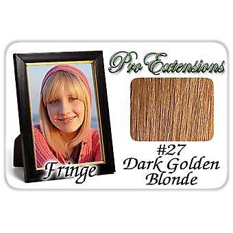 #27 tumma kultainen blondi Pro Fringe Clip otsa tukka
