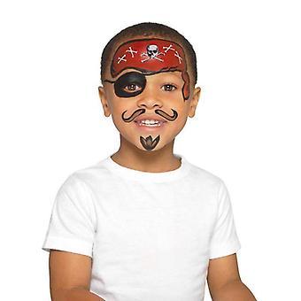 Smiffys Make Up FX, Kids Pirate Kit Child Multi