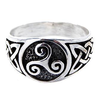 Triskele pierścień, gr. 52-74 (tris) - srebrny