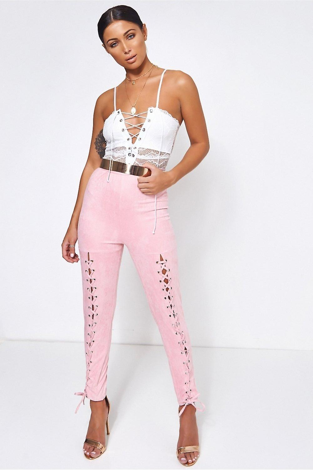 Limited Edition Suede Lace Up Trousers