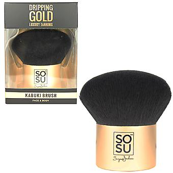 SOSUbySJ Dripping Gold Face & Body Kabuki Brush