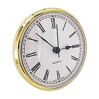 Clock movement quartz insertion roman numerals Ø85mm white dial