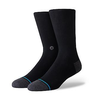 Stance Icon Staple 200 Crew Socks in Black