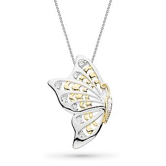 Kit Heath Blossom Flyte Butterfly White Topaz 18-quot; Statement Necklace 90350WT