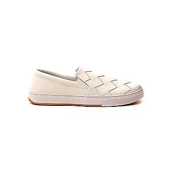 Bottega Veneta 608751vt0319000 Männer's Weiß Leder Slip Auf Sneakers