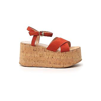 Gianvito Rossi G3169120riccsgcrck Women's Brown Suede Sandals