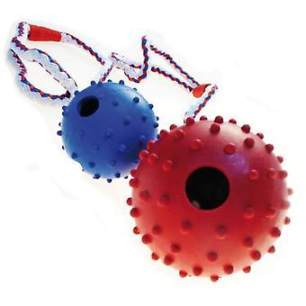 الكرة المطاط الطبيعي Trixie على حبل بيده حلقة (الكلاب، لعب & الرياضة، كرات)