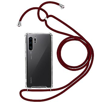 Braided Nylon Lanyard Phone Case for Huawei P30 Pro - Forcell, Red