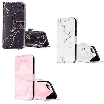 Tegnebog i marmor mønster til iPhone 8