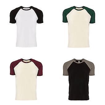 Next Level Adults Unisex Contrast Cotton Raglan T-Shirt