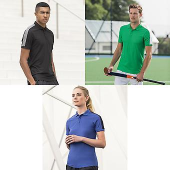 Finden & Hales Adults Unisex Contrast Panel Pique Polo Shirt