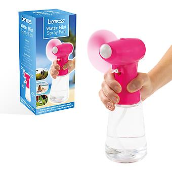 Benross Water Mist Spray Fan Rosa
