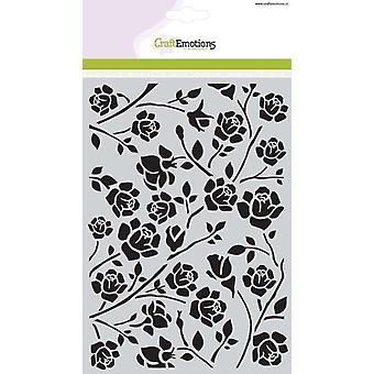 CraftEmotions Masker stencil Botanische rozen A5