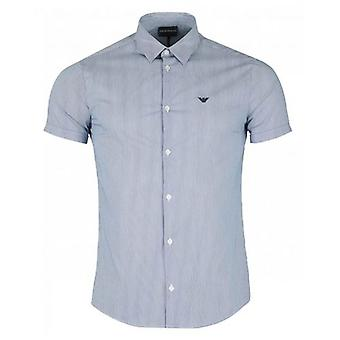 Armani Slim Fit Cotton Poplin Striped Shirt