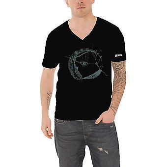 The Cure T Shirt Eyemoon Band Logo Summer Festivals 2019 Official Black V Neck
