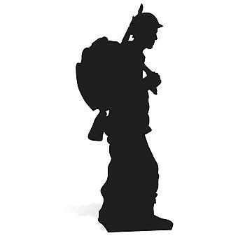 World War Wartime Soldier Silhouette Lifesize Cardboard Cutout / Standee / Stand Up