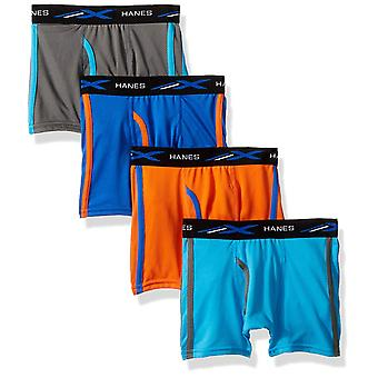 Hanes Boys' X-Temp Breathable Mesh Boxer Brief 4-Pack,, Assorted, Size X-Large