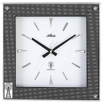 أتلانتا 4391 الجدار ساعة الراديو راديو ساعة ساعة التناظرية الزاوي الكربون البصري مع الزجاج