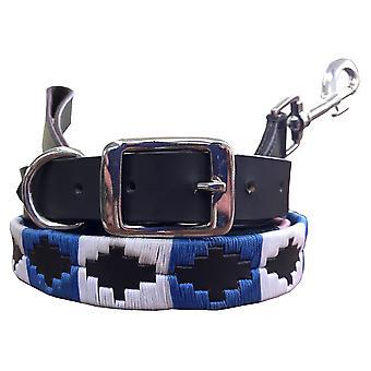 Carlos diaz genuine leather  polo dog collar and lead set cdkupb795