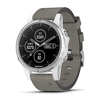 Garmin - Smartwatch - fenix 5S Plus Sapphire White - 010-01987-05