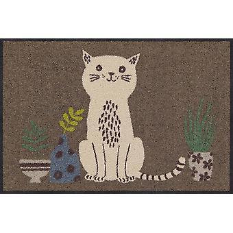 Salonloewe Doormat Content Cat 50 x 75 cm Washable Dirt Mat