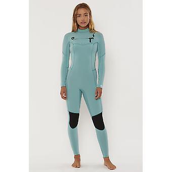 Sisstr 7 seas 4/3 chest zip full wetsuit - sea foam