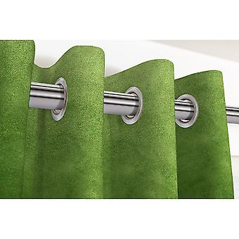 Mcalister textiles matt fern green velvet curtains