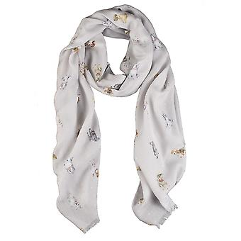 Wrendale Designs Scarf - A Dog's Life in Wild Truffle colour