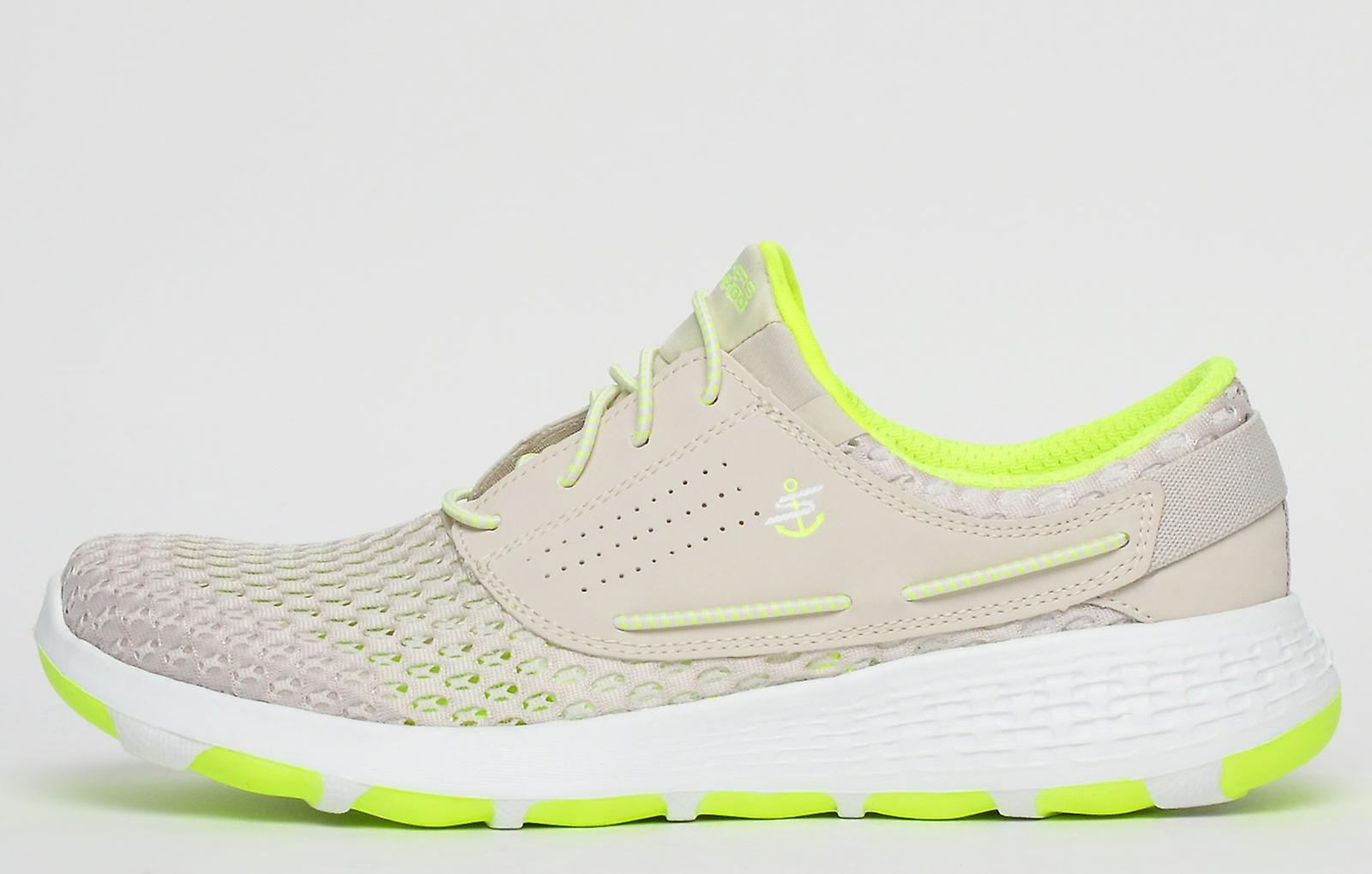 Skechers On The Go Breezy Comfort Foam Natural / Lime Yellow