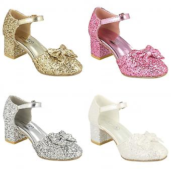 Spot On Girls Glitter Party Shoes
