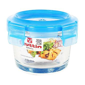 Hermetic Lunch Box Quttin Circular Crystal Blue/970 cc- Ø 18 x 7,7 cm