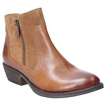 Hush Chiots Femmes Isla Zip Up Ankle Boot Tan