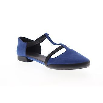 Camper Casi Tiptap  Womens Blue Suede Slip On Flats Shoes