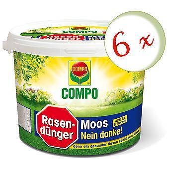 Sparset: 6 × كومبو العشب الأسمدة موس - لا شكرا!، 7.5 كجم