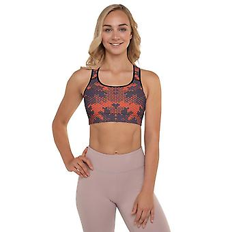 Padded Sports Bra | Red Camouflage