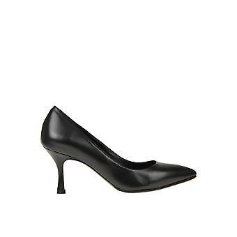Andrea Pinto Ezgl438002 Kvinnor's svarta läderpumpar