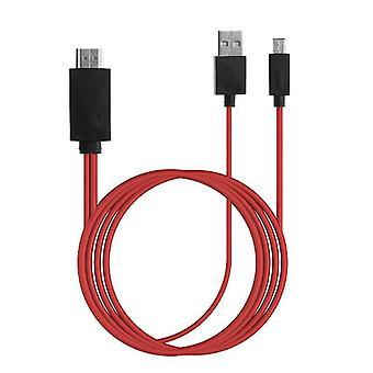 Voor HTC Butterfly 3 MHL Micro USB naar HDMI 1080P HD TV-kabeladapteromvormer
