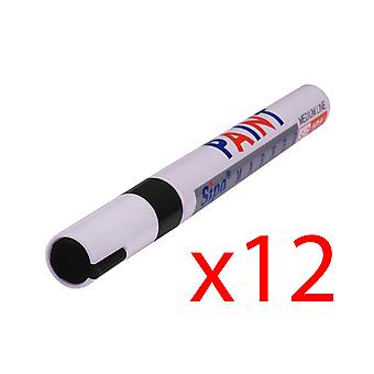 12x PERMANENT Car Tyre Tire Metal Outdoors Oil Based MARKER PEN[Black]