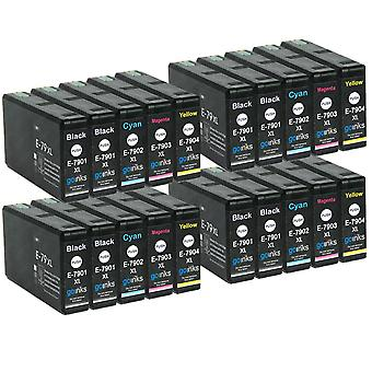 4 Set di 4 cartucce di inchiostro nero extra per sostituire Epson T7906 -7901 (serie 79XL) Compatibile/non OEM da Go Inks (20 inchiostri)